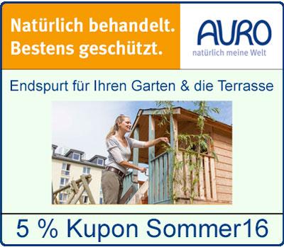 5 % Kupon f�r alle Produkte aus Garten und Terrasse