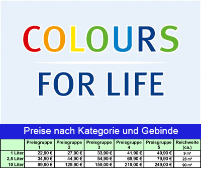 AURO COLOURS FOR LIFE - Preisliste