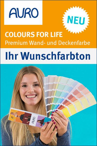 COLOURS FOR LIFE - Premium Wand- und Deckenfarben in 790 Farbtönen.