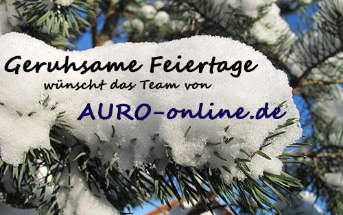 Geruhsame Feiertage und einen guten Rutsch wünscht das Team von AURO-online.de