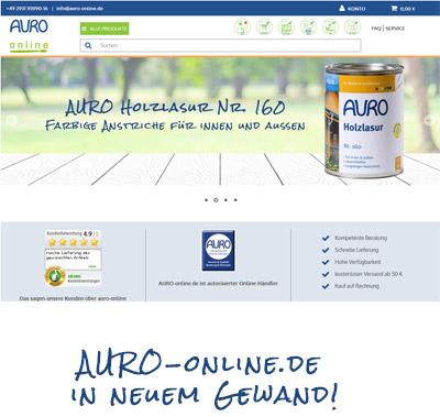 AURO-online.de mit neuer Optik ab Morgen