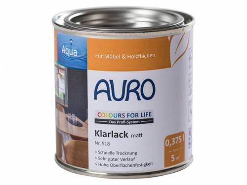 AURO COLOURS FOR LIFE Klarlack, matt Nr. 518